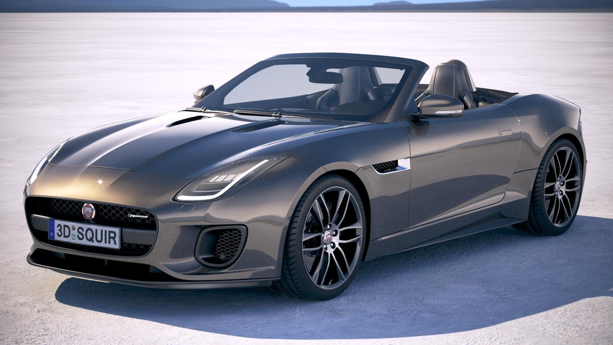 3d model f-type convertible 2018