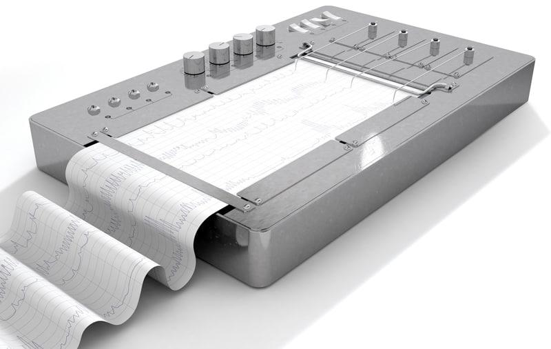 3d metal polygraph machine model