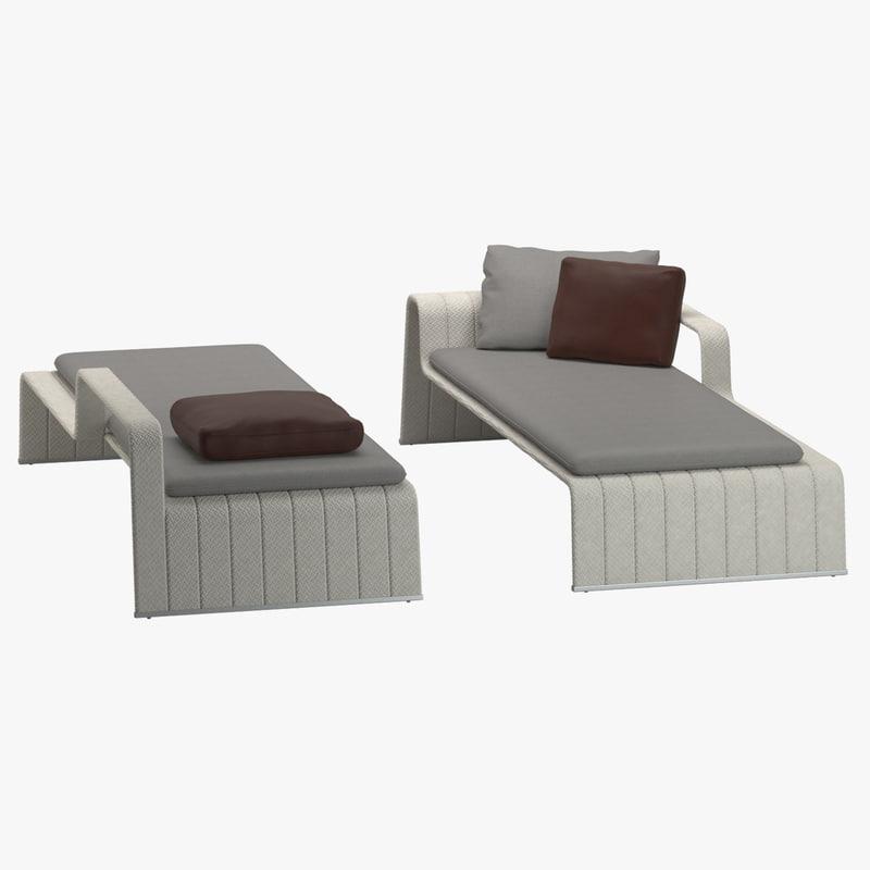 3d paulo lenti frame bed model