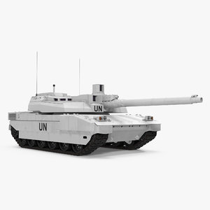 3d model tank amx-56 leclerc united nations