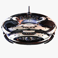 sci-fi police survailance drone 3d model