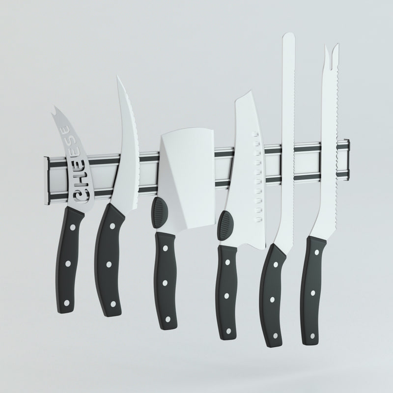 3d model knife stand