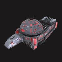 3d crystal mecha titan model