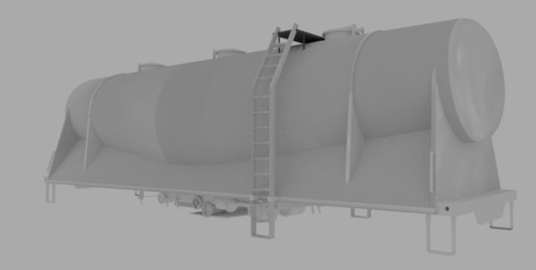 pry cement hopper 3d obj