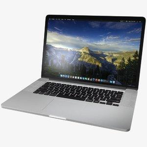 apple mac book pro 3d model