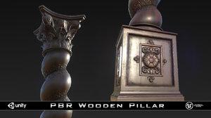3d pbr pillar gothic