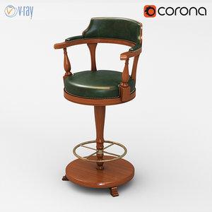 origgi celtic bar chair 3d model