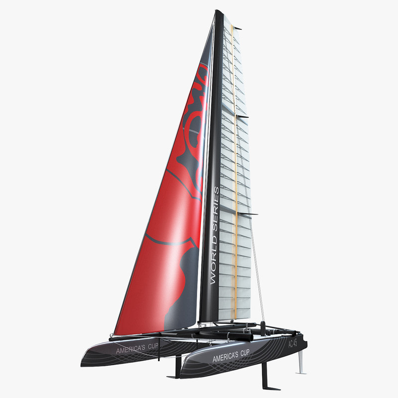 3d model of catamaran class ac 45