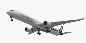 airbus a350-1000 plane 3d max