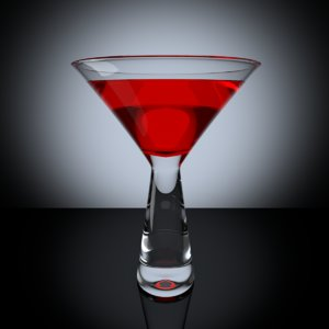3d cocktail glass model