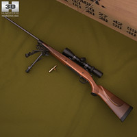 3d remington 700 model