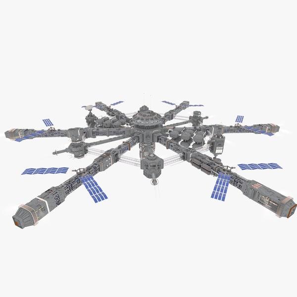 3d model orbit station