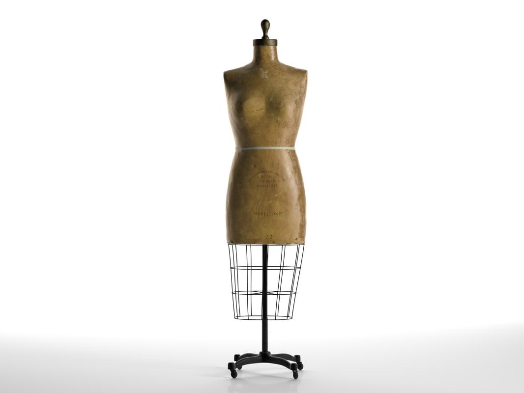 3d vintage mannequin 2 model