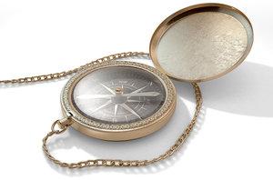 3d intricate pocket compass model