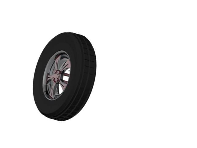 3d model automobile wheel