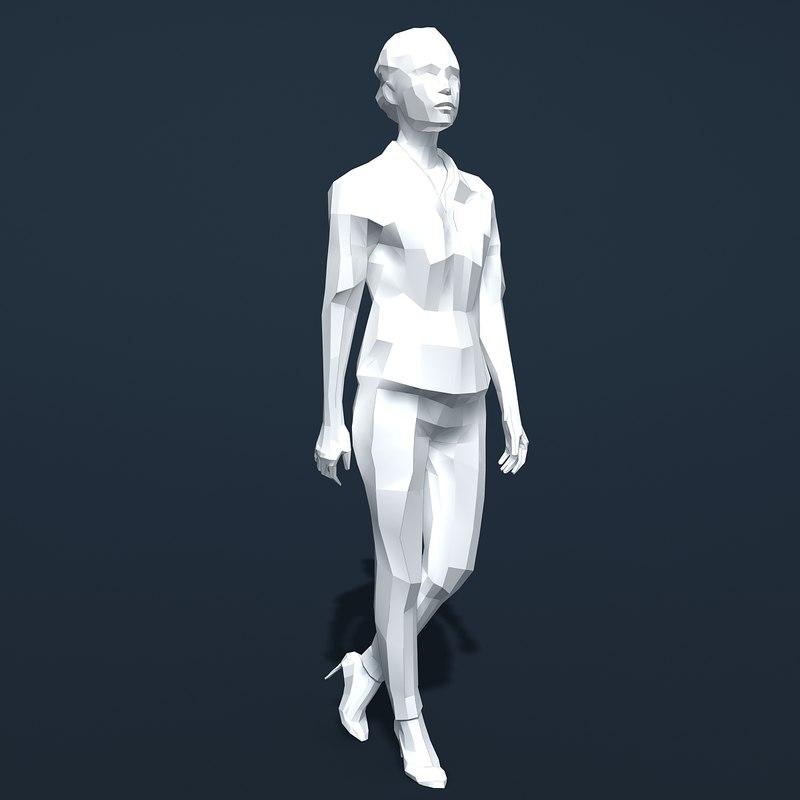3d model of woman silhouette