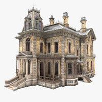 3d abandoned victorian house