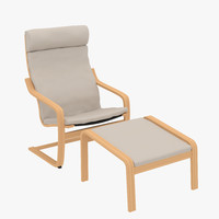 poang chair & footstool