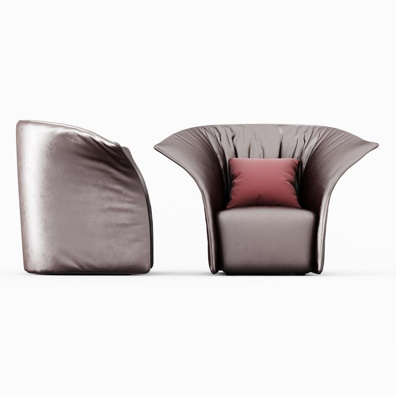 armchair artichoke 3d model