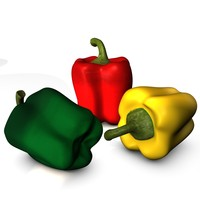 set bell peppers 3d c4d