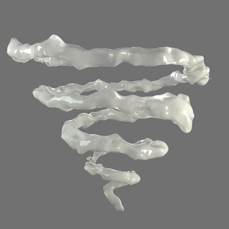 3d spiral liquid model