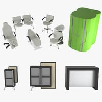 3d model hairdressing salon equipment