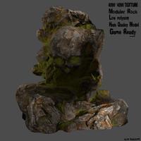 skull rock 3d obj