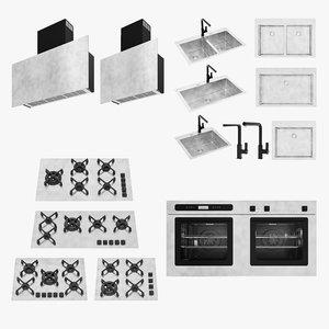 3d barazza cooktop oven hood