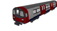 1995 stock london underground 3d model