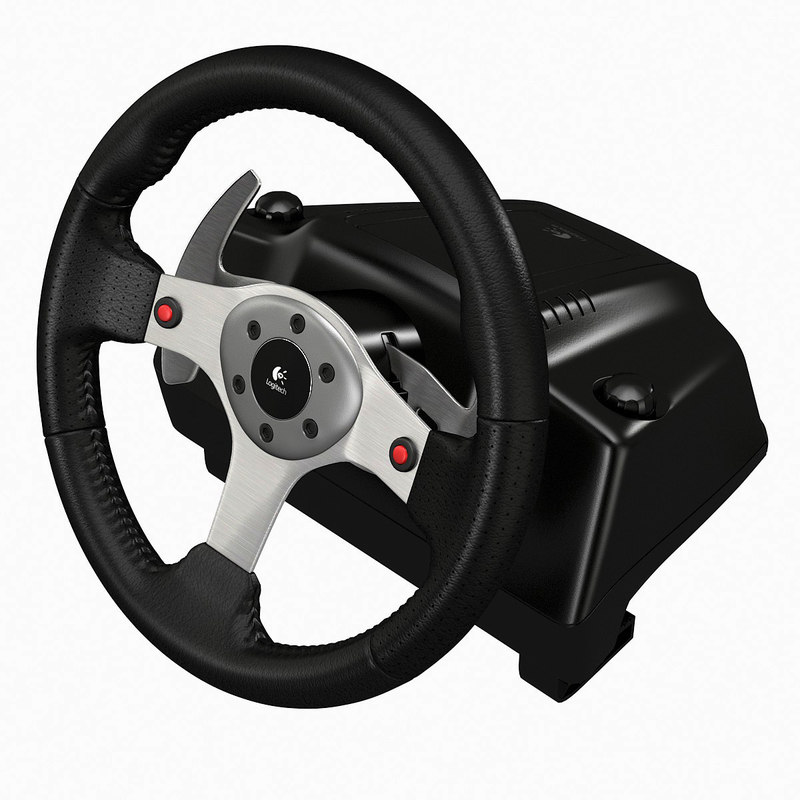 3d logitech g25 racing steering wheel