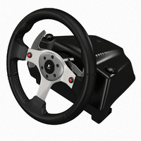 3d logitech g25 racing steering wheel