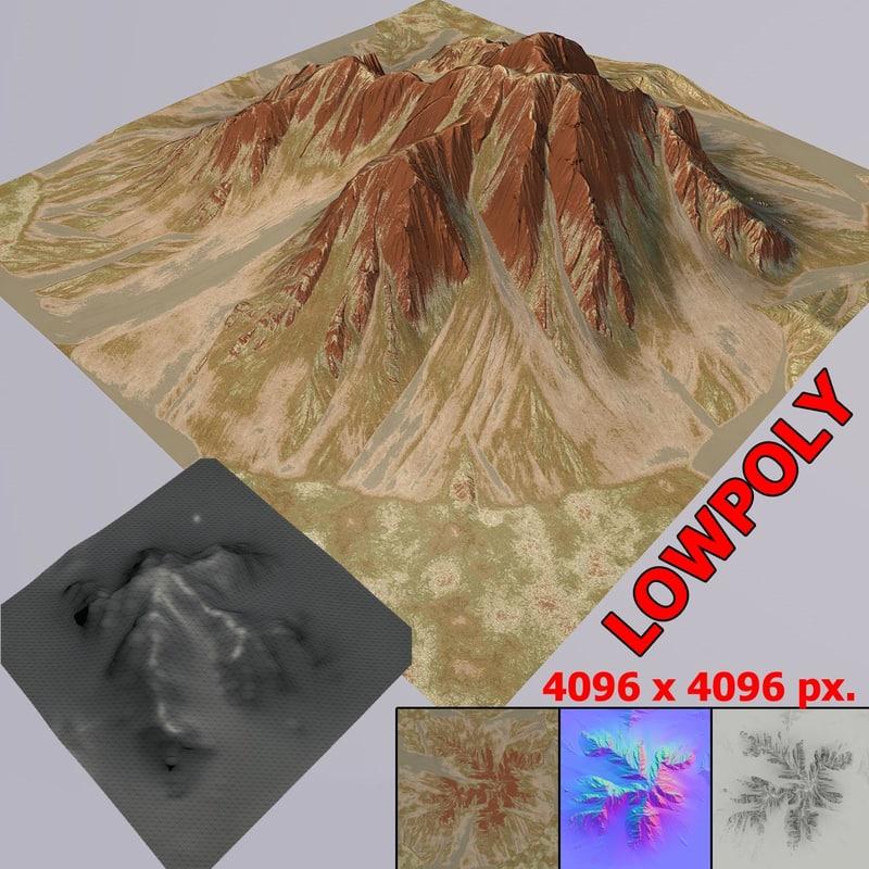 3d model mountain mt002