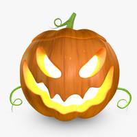 free c4d model pumpkin