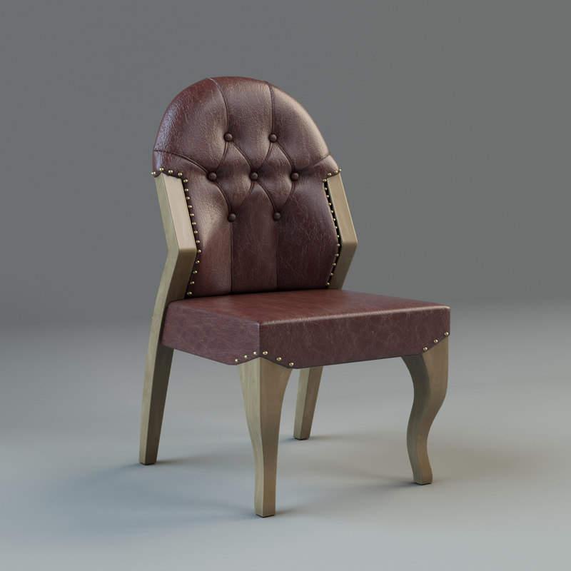 antique chair 3d max