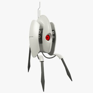 3d sentry turret portal 2 model