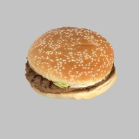 whopper burger 3d model