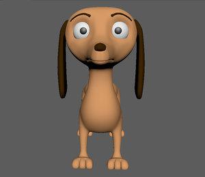 dog taksa cartoon 3d model