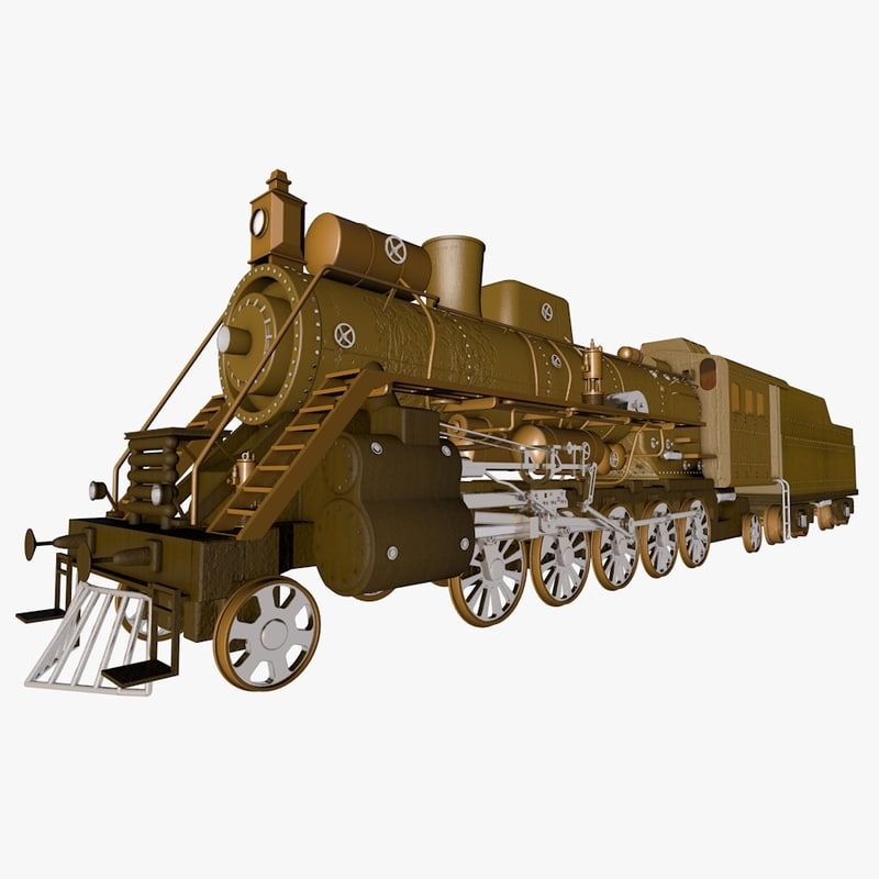 3d train locomotive model