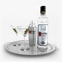 ketel vodka set martini 3d model