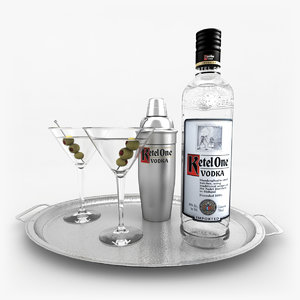 ketel vodka set martini 3d 3ds