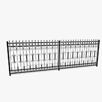 3d forged fence
