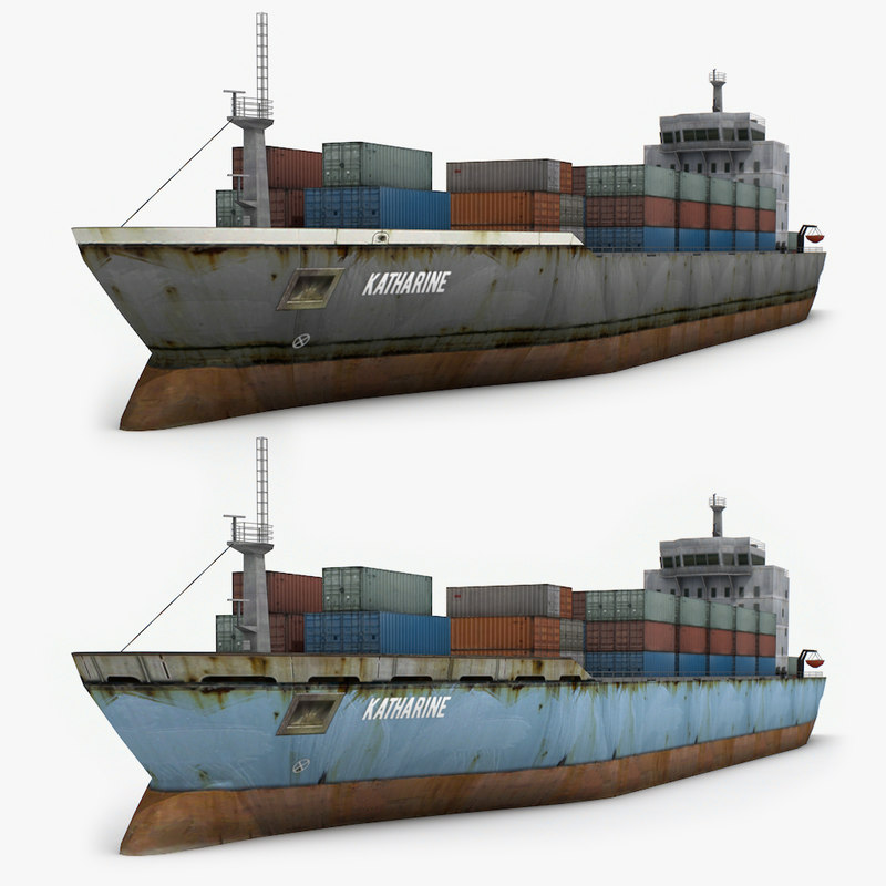 3d model cargo ship 2