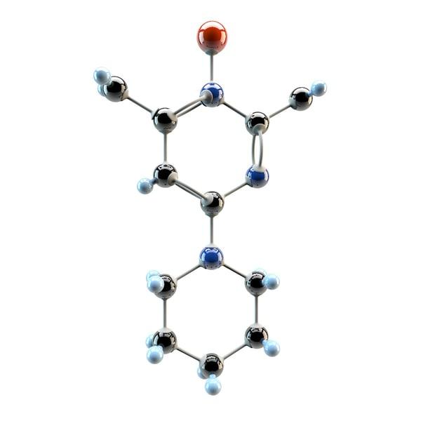 3d model minoxidil medication hair