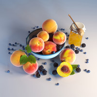 3d model life peaches