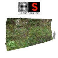 3d model green wall 16k cliffs