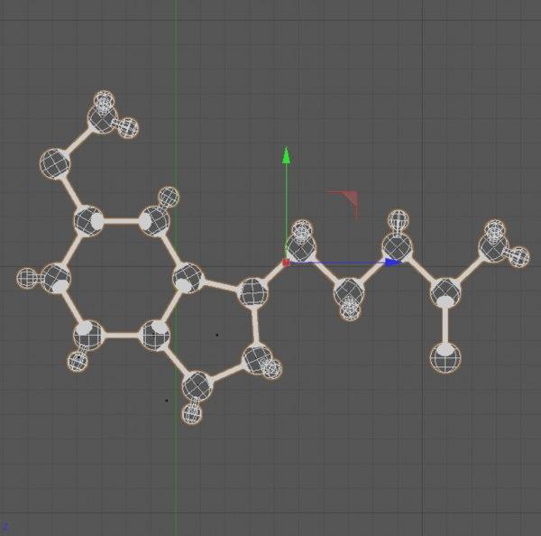3d model melatonin tryptamine regulates
