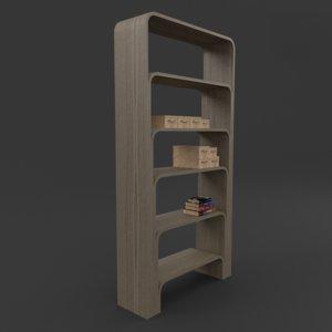 3d book case model