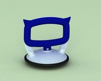 suction cup vantuz 3d model