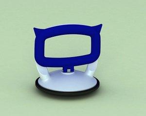 suction cup vantuz 3d model