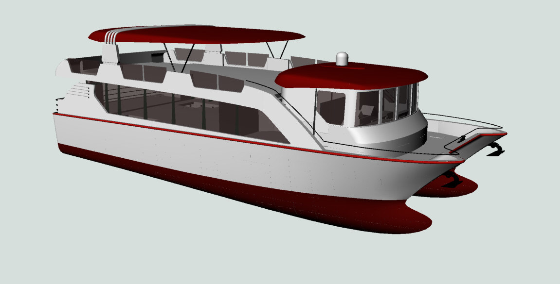 3d model of catamaran